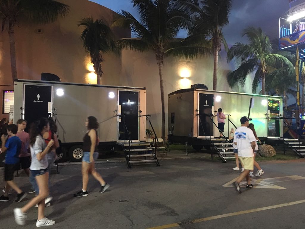YML Portable Restrooms And YML Cleaning And Event Services At Belen Jesuit's Tombola Annual Event