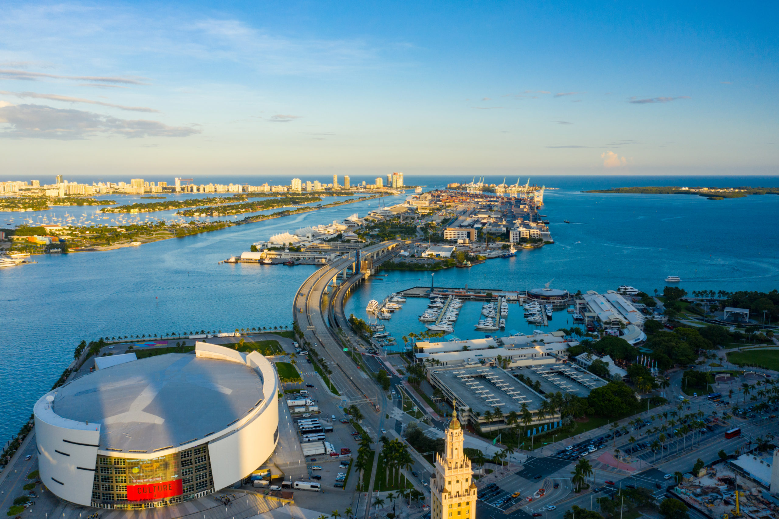 American Airlines Arena And Hard Rock Stadium